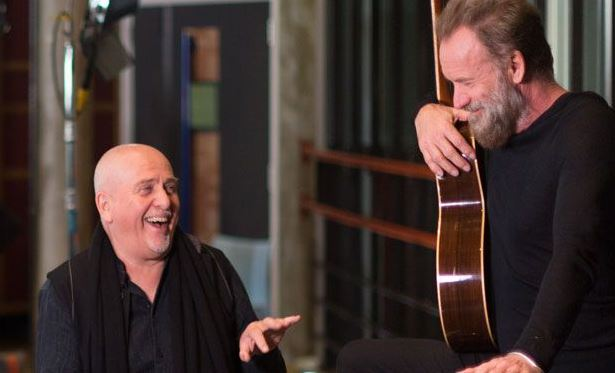 Peter Gabriel et Sting/Photo fournie par la production