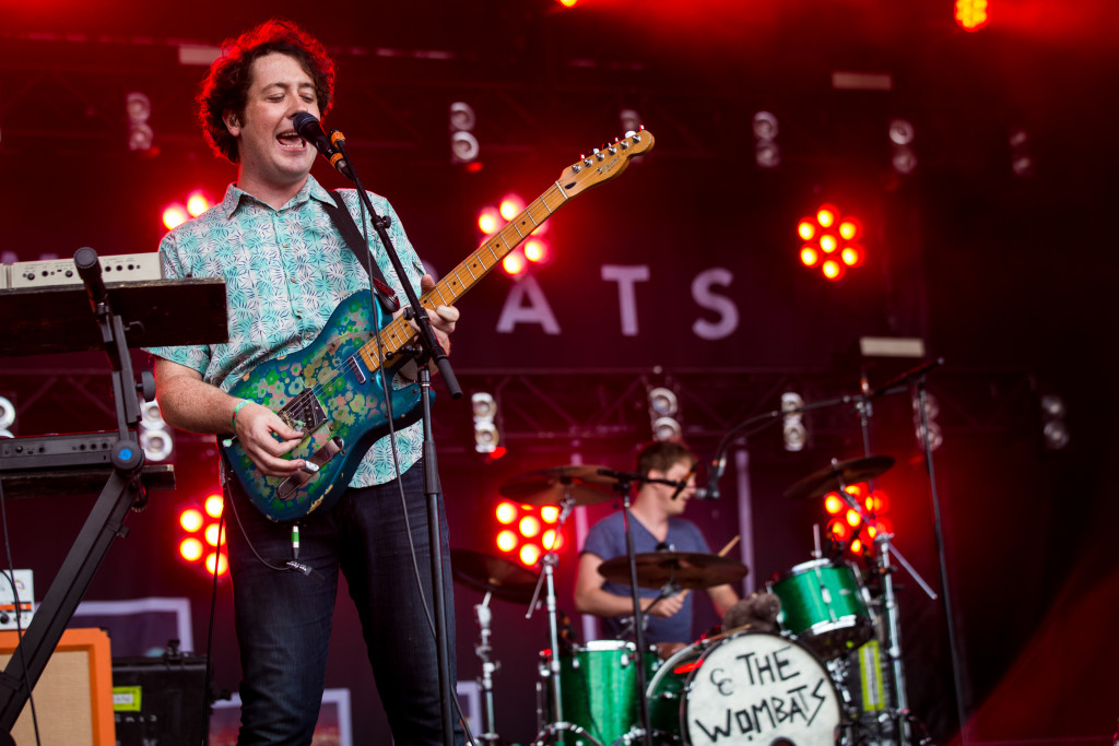 MONTREAL, QUE.: July 29, 2016-- The Wombats perform during the first day of the 2016 Osheaga Arts and Music festival at Parc Jean Drapeau on Friday July 29, 2016. (Tim Snow / EVENKO MANDATORY CREDIT)