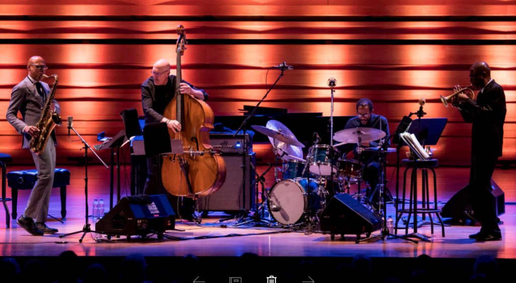 Joshua Redman, Scott Colley, Brian Blade et Ron Miles. Photo BenoirRoussdeau/Courtoise FIJM